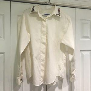 Pendleton cream color blouse